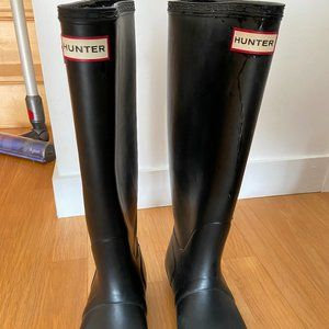Hunter Women's Original Tall Wide Rain Boots - Bla